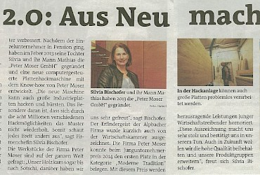 Bezirksblatt Kufstein article about our company and products